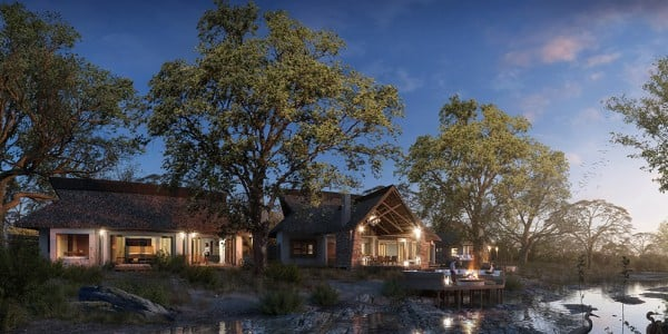 River lodge front