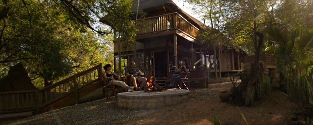 River lodge in part of Africa Botswana